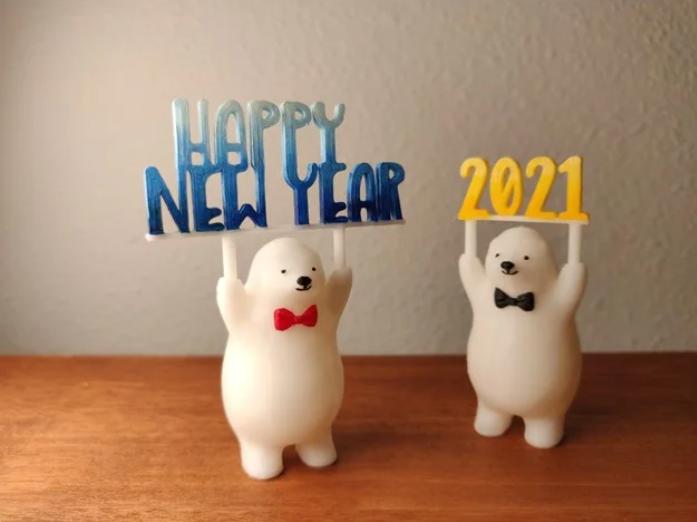 L'impression 3D pour dire «Bon débarras» jusqu'en 2020 à la veille du Nouvel An