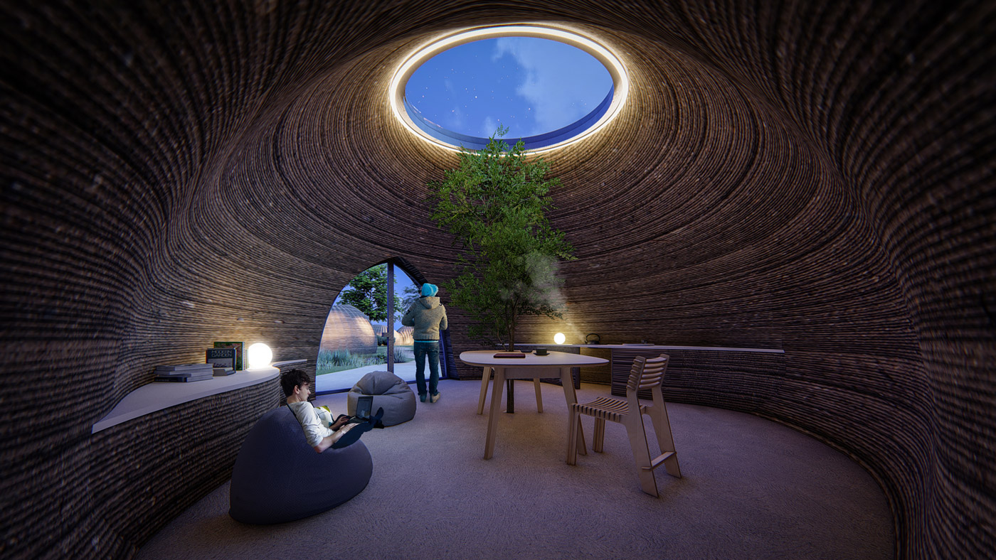 Les imprimantes 3D à double maison de WASP créent un éco-habitat innovant en Italie
