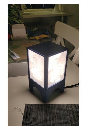 Lampe lithopane E14 #3DJeudi #3DPrinting