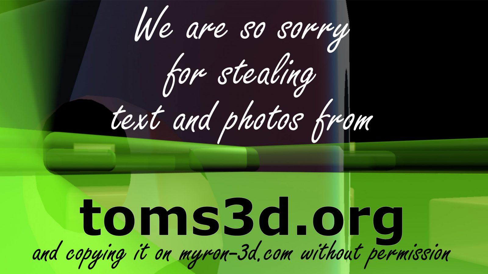 Myron-3D est désolé de son erreur