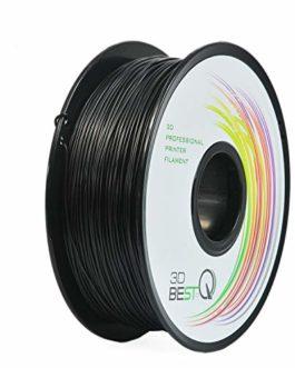 3D BEST-Q Filament flexible TPU 1,75 mm pour imprimante 3D, précision dimensionnelle +/- 0,03 mm, bobine de 1 kg, 8…