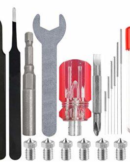AFUNTA Kit de buse pour imprimante 3D, kit de nettoyage, clé et tournevis, compatible avec Anet A8, Creality CR-10…