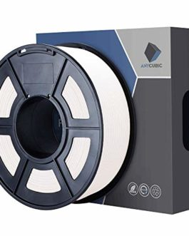 ANYCUBIC Filament d'impression 3D, 1.75mm impression PLA pour Imprimante 3D et Stylo, 1KG 1 Spool (Blanc)