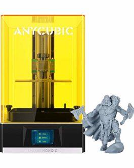 ANYCUBIC Imprimante 3D Photon Mono X, imprimante à résine UV LCD avec écran monochrome 4K et impression rapide 3X, télécommande APP, taille d'impression 192x120x250mm