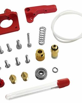 Afunta Kit extrudeuse + 1 tube Bowden PTFE en téflon (1 mètre) + 2 buses d'extrusion de 0,4 mm pour imprimante et 1…