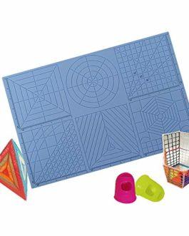 Aibecy Tapis de silicone pour stylo d'impression 3D, modèle de stylo d'impression 3D multi de but, modèles de dessin 3D…