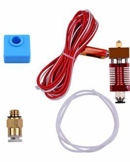 Aibecy kit d'extrudeuse cr10 hotend avec buse en aluminium de 0,4 mm, chaussette en silicone 12 / 24V 40W compatible…