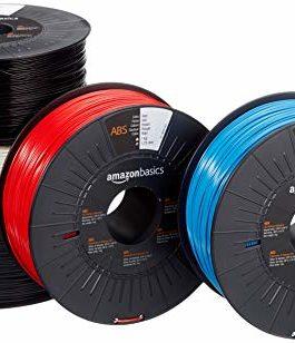 Amazon Basics Filament ABS pour imprimante 3D 1,75 mm 5 couleurs assorties 1 kg par bobine 5 bobines