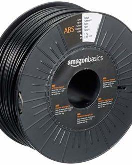 Amazon Basics Filament pour Imprimante 3D ABS, 2.85 mm, Noir, Bobine de 1 kg
