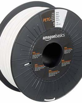 Amazon Basics Filament PETG pour imprimante 3D 2.85 mm Blanc Bobine 1kg