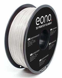 Amazon Brand-Eono PLA Plus (PLA +) 3D printer filament,White, 1kg, high adhesion and excellent printing angle…