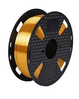 Amazon Brand- Eono Silk 3D Filament 1.75,Métal brillant or soie, Shiny Silk PLA Filament 1.75mm, 1KG PLA Filament 0.02mm…