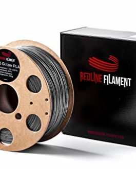 Bobine en carton dur de filament diamètre 1,75 PLA, 1kg, pour votre imprimante 3D, de qualité supérieure, 1,75mm, Gris…