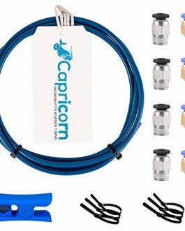 Capricorn Série XS Tube en téflon Bowden PTFE (3 mètres) avec 4 raccords PC4-M10, 4 embouts PC4-M10 et coupe-tube en…