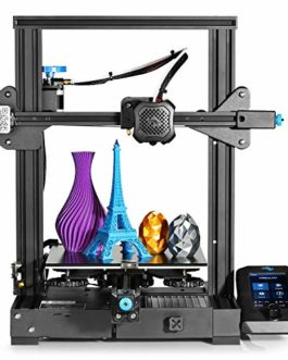 Creality Ender 3 V2 Imprimante 3D améliorée de l'Ender 3 Pro, avec carte mère silencieuse 32 bits, alimentation MeanWell, lit en verre de carborundum, reprise d'impression, idéal pour les débutants
