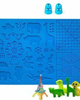 DOLYUU Modèle pour stylo 3D, modèle de stylo d'impression 3D, grand tapis (41,5 x 27,5 cm) avec motif animal utile pour…