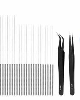 Dadabig Kit de Nettoyage de Buse pour Imprimante 3D, 35pcs 0,15/0,25/0,35/0,4 mm Aiguilles Nettoyage de Buse Imprimante…
