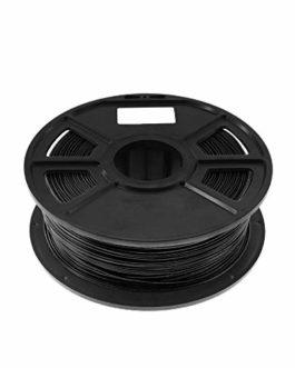CUHAWUDBA Noir 1Kg-Pla Filament 1.75Mm Consommables en Caoutchouc Plastique Matériel 3D Fibre de Carbone 3D Filament 1…
