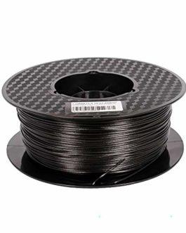 Fibre De Carbone PLA 1,75 Mm Filament D'imprimante 3D Noir De Carbone, Précision Dimensionnelle +/- 0,02 Mm, 1 Kg De…