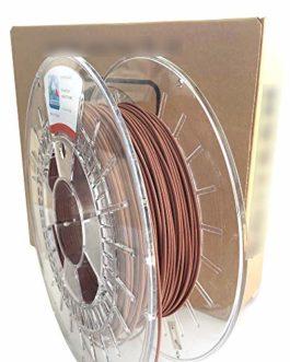 Filament Imprimante 3D – PLA Métal (20% PLA, 80% cuivre) Couleur Cuivre – 1,75 mm – Poids 750 g – Impression 3D