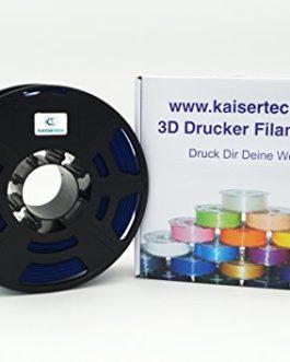 Kaisertech Filament pour imprimante 3D 1kg PLA / ABS 1,75 mm / 3 mm – qualité premium et couleurs différentes pour…