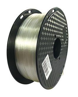 Filament PC pour imprimante 3D transparent 1,75 mm Précision dimensionnelle +/- 0,05 mm, 1 kg Spool (2,2LBS), matériau d…