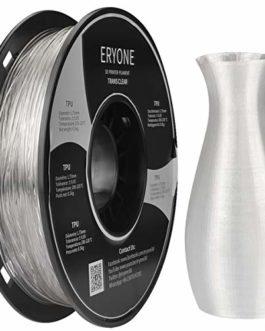 Filament TPU ERYONE pour imprimante 3D, 1,75 mm, Tol¨¦rance : ¡À 0,05 mm, 0,5 kg (1,1 LBS) / Bobine, Blanc