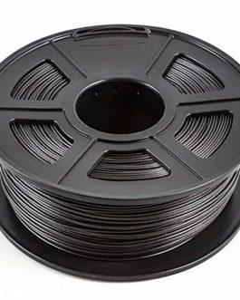 Filament d'imprimante 3d 1,75 mm, filament de fibre de carbone PLA, rempli de 30% de fibre de carbone-Noir de carbone 0…