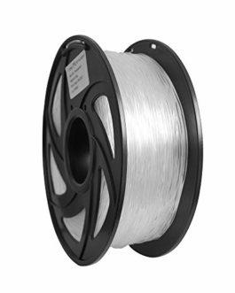 Filament pour imprimante 3D flexible en TPU 1,75 mm Couleur claire naturelle, Précision +/- 0,05 mm, Poids net 1 kg…