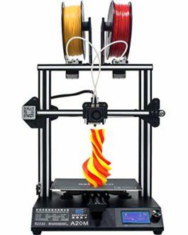 GEEETECH Imprimante 3D A20M avec impression couleur mixte, montage et double extrudeuse, détecteur de filaments et fonction de reprise de vue, 255 × 255 × 255 mm³, kit de montage rapide Prusa I3