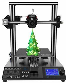 GEEETECH A20 Imprimante 3D avec grand arbre : 255 x 255 x 255 mm 3 et Power Failure Recovery, bonne adhérence sur le lit imprimé, montage rapide DIY Kit.