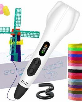 GLKEBY Stylo 3D, Stylo d'impression 3D Intelligent avec Filament de 18 Couleurs (3D Pen)