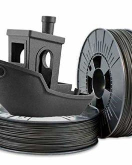 GSA Filament en fibre de carbone PETG pour impression 3D 1,75 mm Noir flexible
