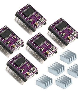 Geeetech 4 Lot de 5 drivers de moteur pas à pas DRV8825 4 couches Stepstick + Dissipateur thermique + Sticker pour…