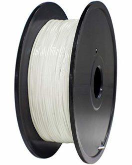 Giantarm Filament TPU pour imprimante 3D 1,75 mm, précision dimensionnelle +/- 0,02 mm, 0,4 kg, blanc