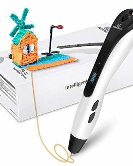 Giantarm Geeetech Blanc Stylo 3D avec écran LCD, 8 vitesses et 6 boutons, température réglable/vitesse, cadeau créatif…