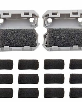 HAWKUNG 16 Pièces 3D Imprimante 1,75 mm Anti Statique Filtres, 2 Filament Cleaner + 14 Mousse de Caoutchouc Résistant…