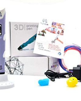 HyleLab Stylo 3D Violet, Notice en Français, idée Cadeau ado pour Adulte, ado et Enfant, Loisirs créatifs en Famille, efficacité 3D, Vitesse et température réglables, pour Filament pla/abs 1.75