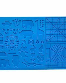 Impression 3D Pen Mat, Outils multi-forme silicone stylo 3D dessin modèle Agrandir résistant à la chaleur Bleu Dessin…