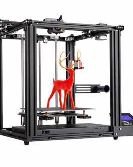 Imprimante 3D Creality Ender-5 Pro, Officiel Ender-5Pro amélioré avec carte mère silencieuse, tube en PTFE Capricorn, machine d'extrusion de métal 220 * 220 * 300mm
