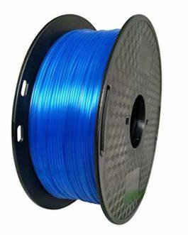 KEHUASHINA Filament Imprimante 3D Materiel PETG 1.75mm Bobine 1KG Bleu transparent