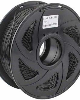 LXLH Filament PP pour imprimante 3D Filament en Plastique Souple Souple Noir Blanc Couleur 1.75mm 1KG Bobine pièces d…