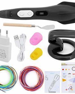 MoYouno Stylo d'impression 3D, stylos 3D créatifs intelligents avec recharges de Filament PLA 12 Couleurs, Stylo de Dessin 3D avec écran LCD