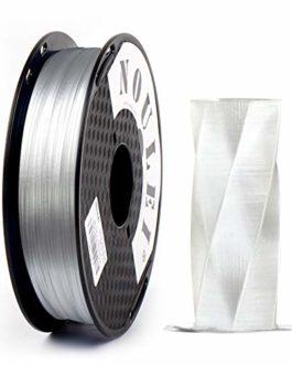 Noulei Filament PETG pour imprimante 3D 1.75 mm, Ombres et Strong 3D Filament, (Noir 0.5kg 500g 1.1lbs)