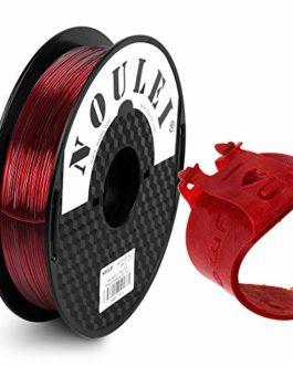 Noulei Flexible TPU Filament pour Imprimante 3D 1.75 mm 0.5 kg Rouge