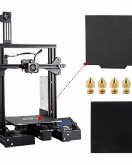 Comgrow Creality Ender 3 Pro Imprimante 3D avec Plaque en Verre, Plaque de Surface de Construction Cmagnet de Mise à…