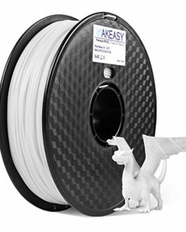 PETG 3D filament Makeasy petg filament 3D Printer Filament 1.75mm 1KG(2.2lb) +/- 0.02 mm, 1 kg Spool PETG Blanc Pour…