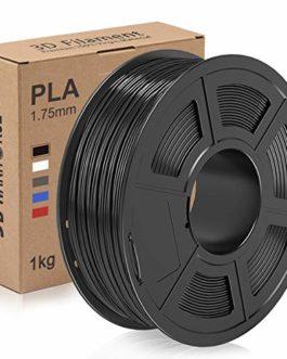 Filament PLA 1.75, 3D Filament PLA,PLA Filament pour imprimante 3D, 1KG PLA Noir