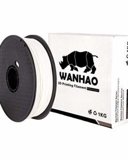 Filament Wanhao : PLA premium BLANC 1KG/1,75MM – Filament pour imprimante 3D