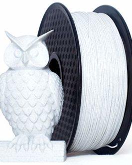 PRILINE Filament PLA 1.75 pour imprimante 3D, précision dimensionnelle +/-0.03 mm, bobine de 1 kg, marbre